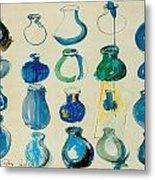 Twenty Blue Pots Metal Print