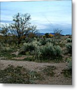 Twilight Near Santa Fe Metal Print