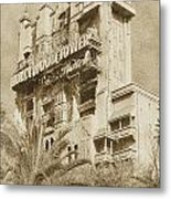 Twilight Zone Tower Of Terror Vertical Hollywood Studios Walt Disney World Prints Vintage Metal Print