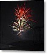 Twin Fireworks Metal Print