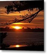Twin Lakes Sunset Metal Print