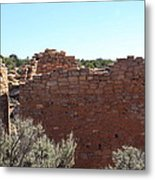 Twin Towers At Hovenweep Metal Print