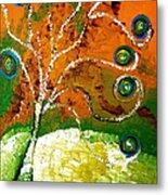 Twirl Pop Tree Metal Print by Pretchill Smith