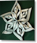Twisted Paper Christmas Star Metal Print