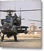 Two Ah-64 Apache Helicopters Return Metal Print