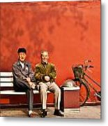 Two Amigos At Forbidden City Beijing Metal Print