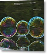 Two And A Half Bubbles Metal Print