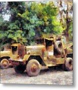 Two Army Trucks Metal Print
