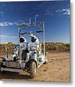 Two Astronauts Take A Ride On Scout Metal Print