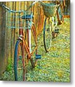 Two Bicyles Metal Print