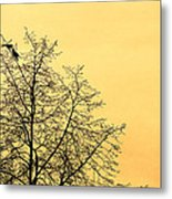 Two Birds In A Tree Metal Print