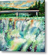Two Bridges And A Falls 2          Metal Print