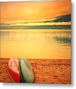 Two Canoes Metal Print
