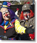 Two Clowns Metal Print