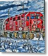 Two Cp Rail Engines Hdr Metal Print