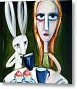 Two Cup Cakes Metal Print by Leanne Wilkes
