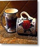Two Cups Metal Print