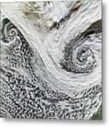 Two Cyclones Forming Metal Print