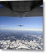 Two Ec-130j Commando Solo Aircraft Fly Metal Print