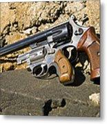 Two Hand Guns Metal Print