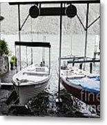 Two Hanging Boats Metal Print