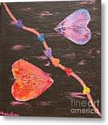 Two Hearts Divided Metal Print