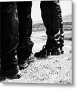 two hikers hillwalkers in the highlands of Scotland UK Metal Print