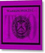 Two In Purple Metal Print
