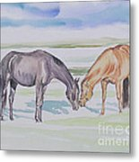 Two Mares Metal Print