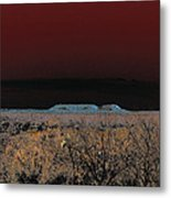 Two Mesas And Thorn Scrub Metal Print