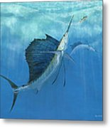 Two Of A Kind Sailfish Metal Print