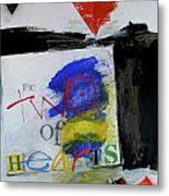 Two Of Hearts 37-52 Metal Print