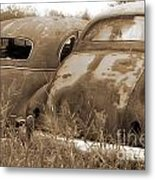 Two Old Rear Ends-sepia Metal Print
