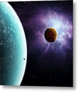 Two Planets Born From The Same Star Metal Print