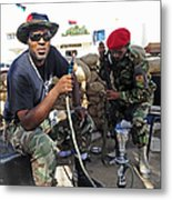 Two Rebel Fighters Man A Checkpoint Metal Print
