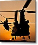 Two Royal Air Force Ch-47 Chinooks Take Metal Print