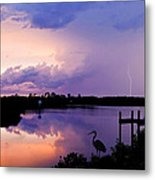 Two Strikes Metal Print
