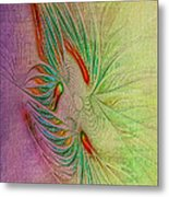 Two Tone Frac Abstract Metal Print