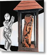 Two Trapped In Imagination Metal Print