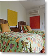 Two Twin Beds Metal Print