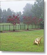 Two Yellow Chairs 2 Metal Print