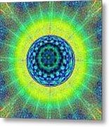 Tye Dye Eyeball Metal Print