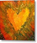 Tye Dye Heart Metal Print