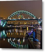 Tyne Bridge At Night Metal Print