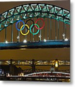 Tyne Bridge At Night II Metal Print