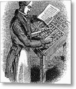 Typesetter, 19th Century Metal Print