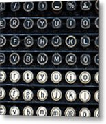 Typewriter Keyboard Metal Print by Hakon Soreide