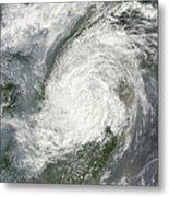 Typhoon Haikui Makes Landfall Metal Print