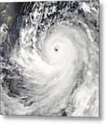 Typhoon Man-yi Metal Print