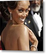 Tyra Banks At Arrivals For 58th Annual Metal Print by Everett